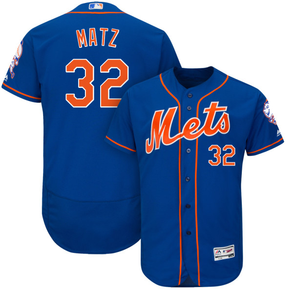 Mens Steven Matz no. 32 Royal Cool Base Flexbase Authentic Majestic New York Mets Baseball Jersey - Steven Matz Jersey