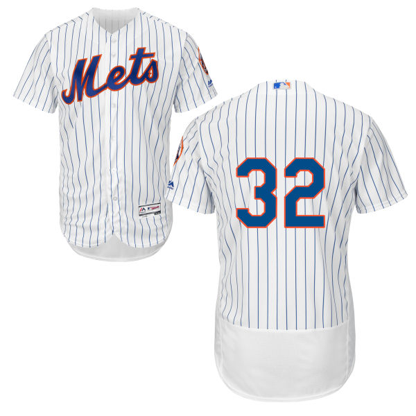 Mens Steven Matz no. 32 Flexbase White Cool Base Authentic Majestic New York Mets Baseball Only Number Jersey - Steven Matz Jersey