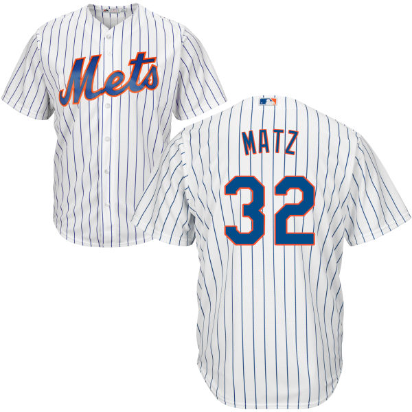 Cool Base Mens Steven Matz Majestic no. 32 White Home Authentic New York Mets Baseball Jersey - Steven Matz Jersey