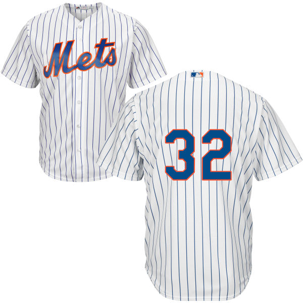 Mens Home Steven Matz no. 32 White Cool Base Authentic Majestic New York Mets Baseball Only Number Jersey - Steven Matz Jersey