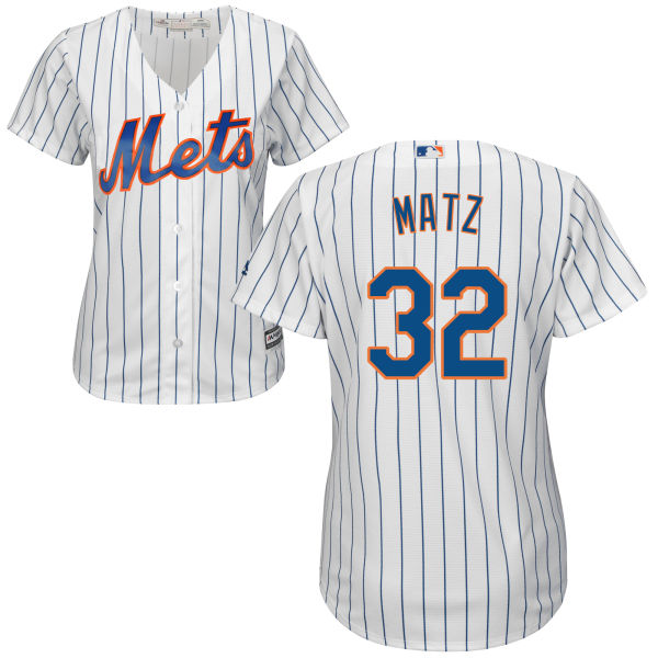 Womens Home Majestic Steven Matz no. 32 White Cool Base Authentic New York Mets Baseball Jersey - Steven Matz Jersey