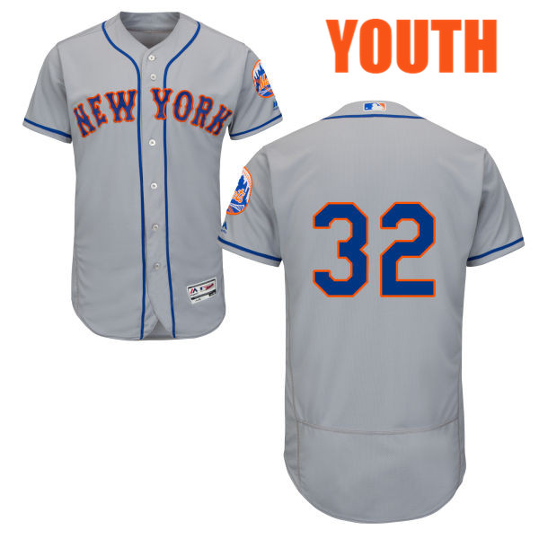 Youth Steven Matz Road no. 32 Flexbase Gray Authentic Majestic New York Mets Baseball Only Number Jersey - Steven Matz Jersey