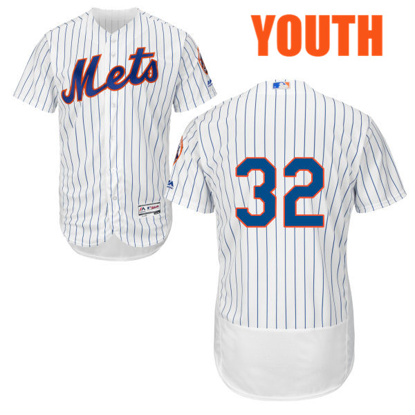 Majestic Youth Steven Matz no. 32 White Authentic Flexbase Cool Base New York Mets Baseball Only Number Jersey - Steven Matz Jersey