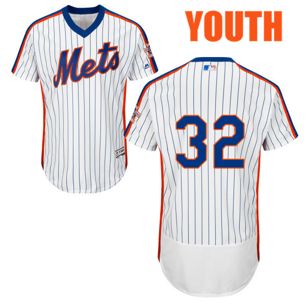 Youth Steven Matz Majestic Flexbase no. 32 White Home Authentic New York Mets Baseball Only Number Jersey - Steven Matz Jersey