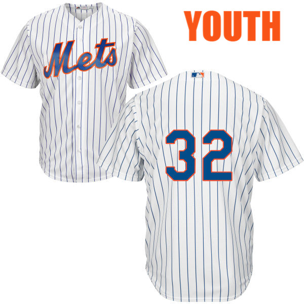 Home Youth Steven Matz Majestic no. 32 White Authentic Cool Base New York Mets Baseball Only Number Jersey - Steven Matz Jersey